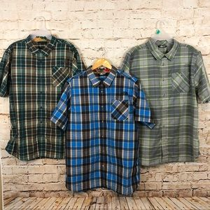 The North Face Mens XL Button Down Shirt LOT of 3